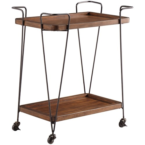 Signature Design by Ashley Moddano Contemporary Kitchen Cart with Casters