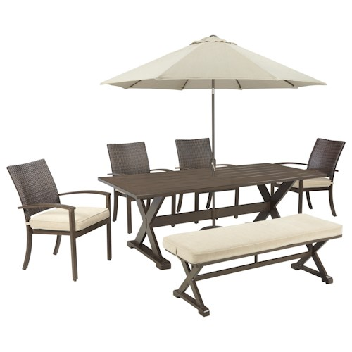 Signature Design By Ashley Moresdale Outdoor Dining Set