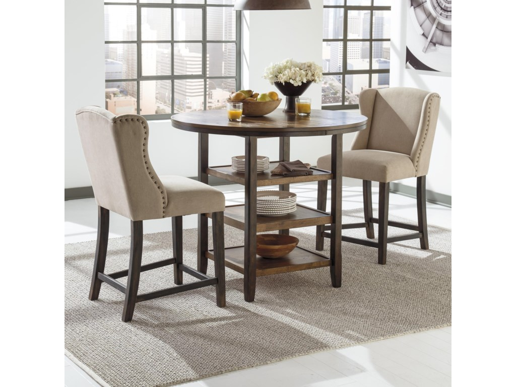 Signature Design by Ashley Moriann3-Piece Counter Table Set