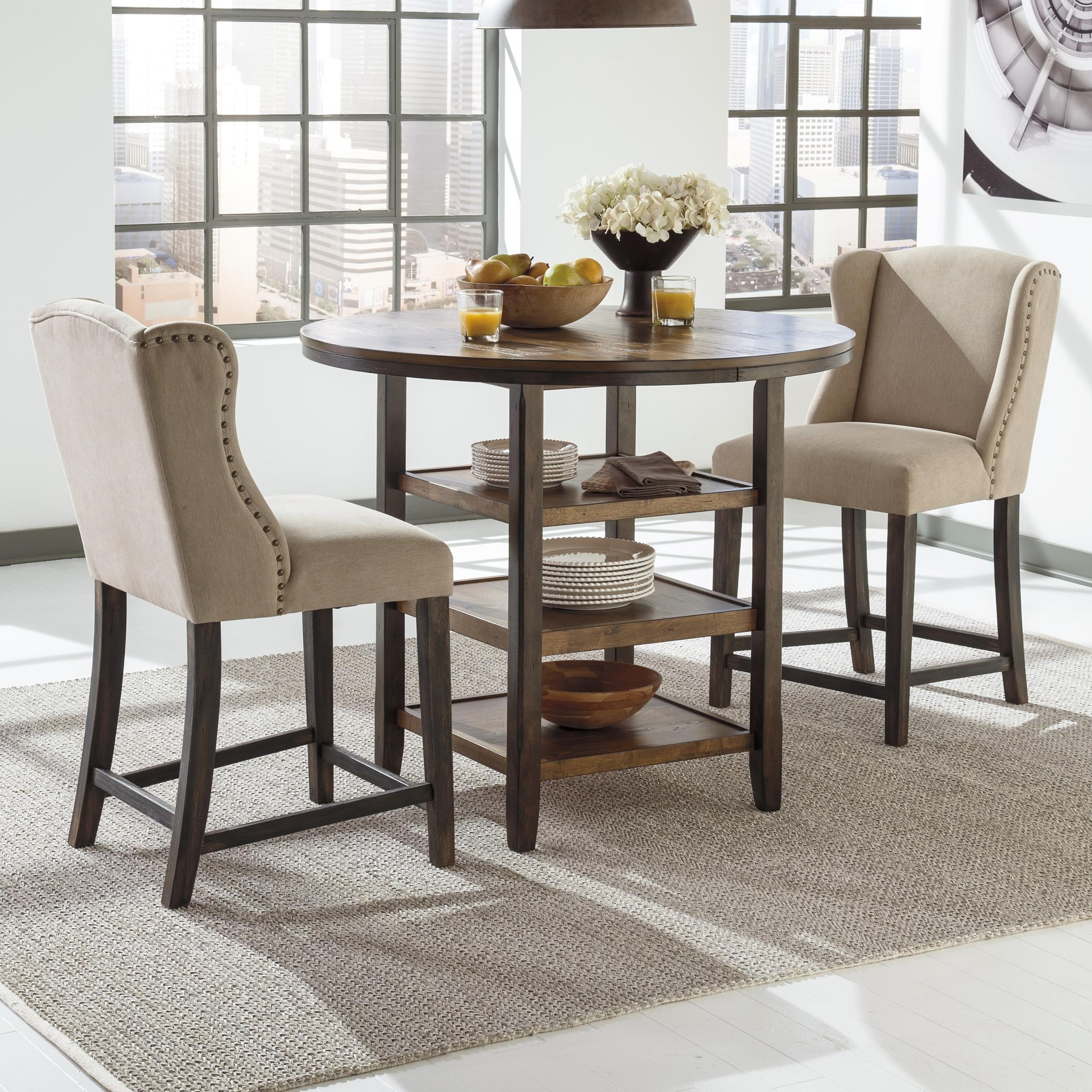 Delicieux Signature Design By Ashley Moriann3 Piece Counter Table Set ...