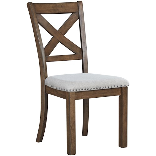 Signature Design by Ashley Moriville Dining Upholstered X-Back Side Chair