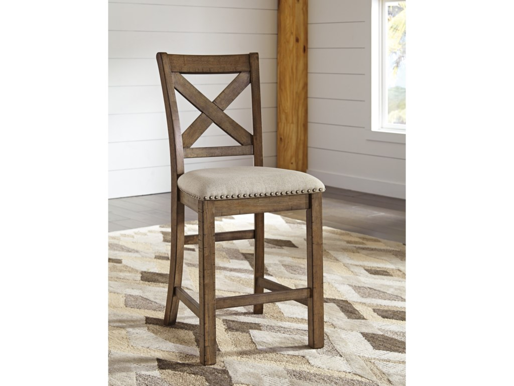 Signature Design by Ashley MorivilleUpholstered Barstool