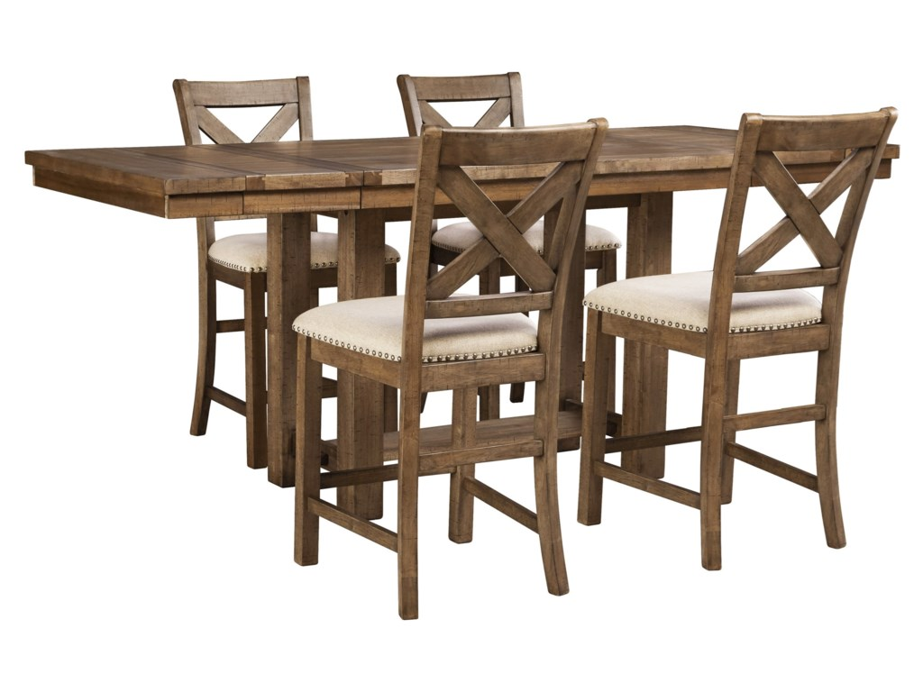 Signature Design by Ashley Moriville5-Piece Rectangular Ext Counter Table Set