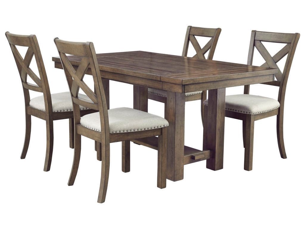 Ashley (Signature Design) Moriville5-Piece Table and Chair Set