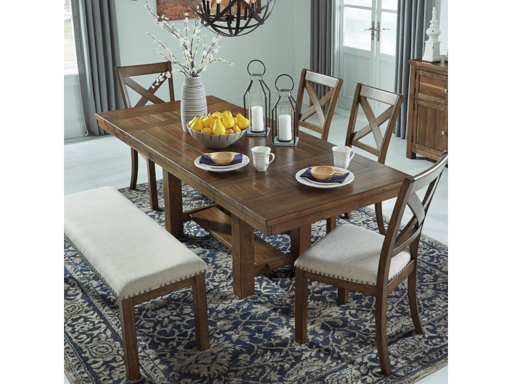 Moriville Rectangular Dining Room Extension Table by Signature Design by  Ashley at Royal Furniture