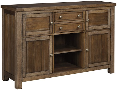 Signature Design by Ashley Moriville Dining Room Server with 4 Doors ...