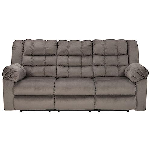 Signature Design by Ashley Mort Casual Contemporary Reclining Sofa