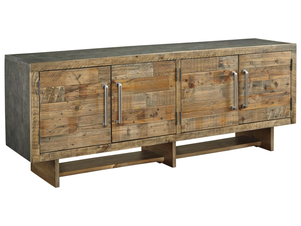 Signature Design By Ashley Mozanburg W665 68 Industrial Reclaimed