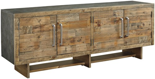 Signature Design by Ashley Mozanburg Industrial Extra Large 72