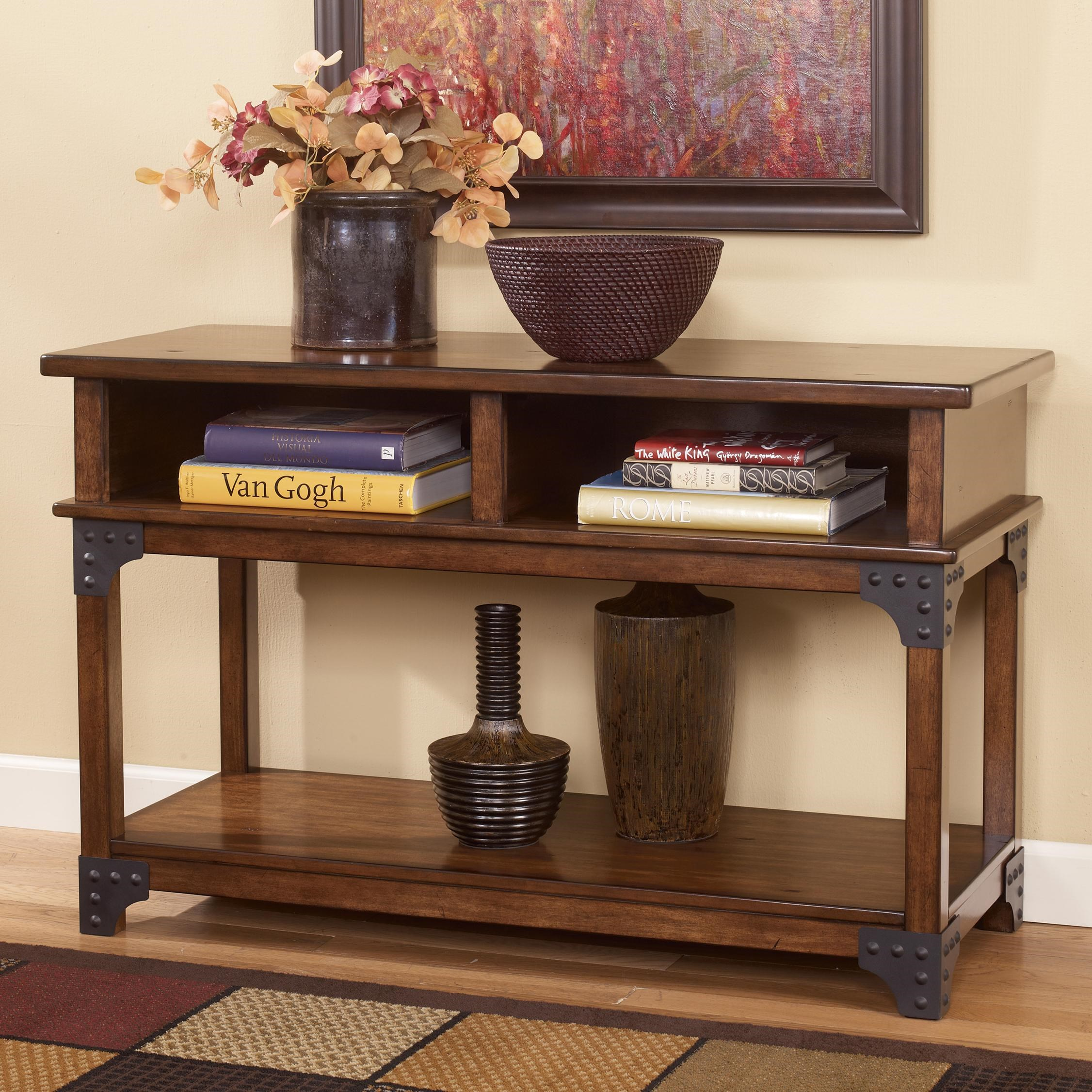 Signature Design By Ashley Murphy Rustic Sofa Table / TV Console With Metal  Brackets