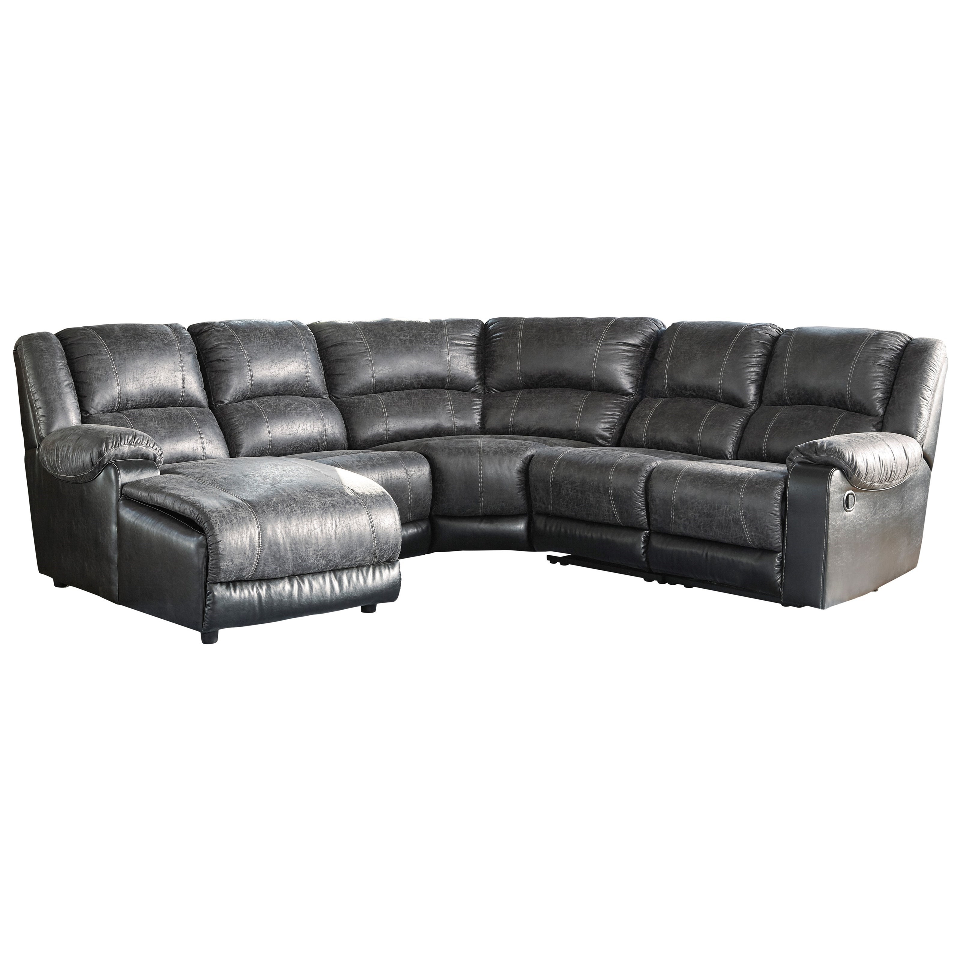 Leather Reclining Sectional Hardy Bonded Leather Reclining
