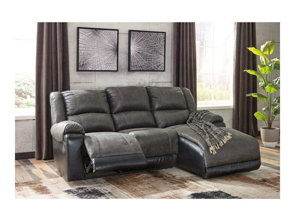 Signature Design by Ashley NantahalaReclining Sofa with Chaise