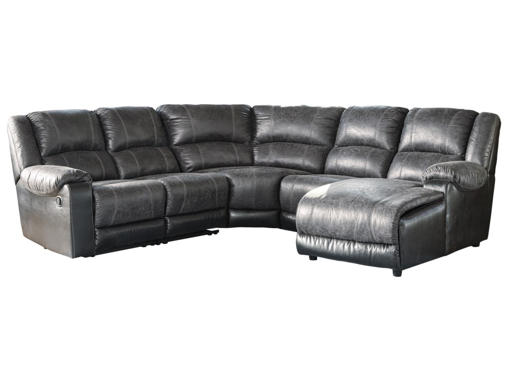 Nantahala Reclining Sectional with Chaise