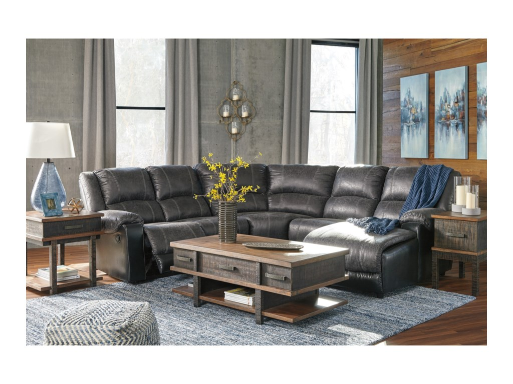 Signature Design by Ashley NantahalaReclining Sectional with Chaise