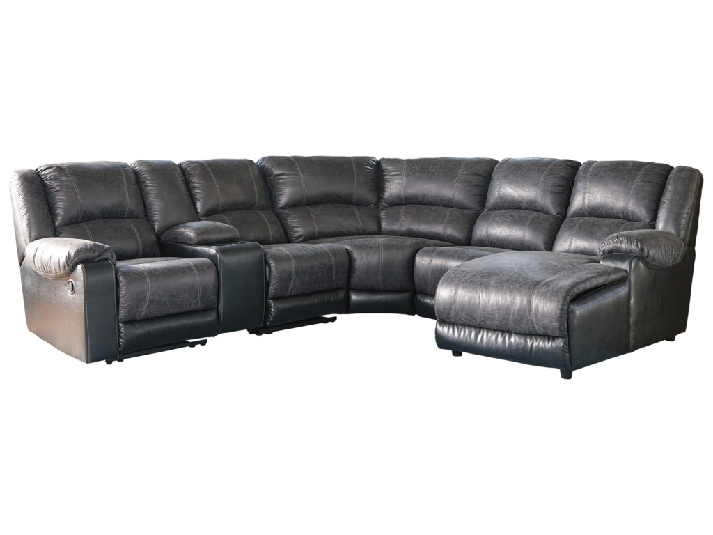 Signature Design by Ashley NantahalaReclining Sectional with Chaise & Console