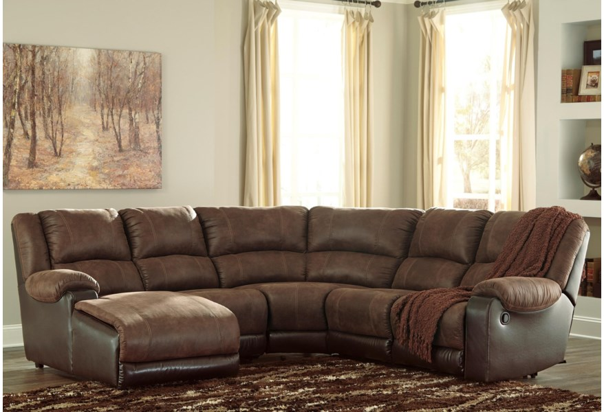 Nantahala Faux Leather Reclining