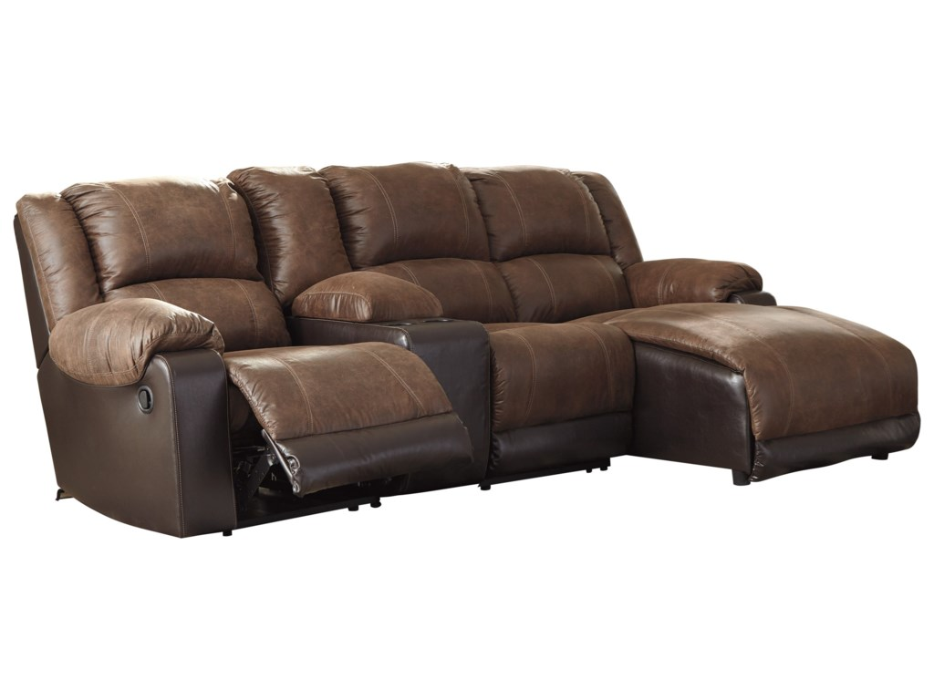 Nantahala Reclining Chaise Sofa with Storage Console by Signature Design by  Ashley at L Fish