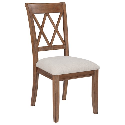 Signature Design by Ashley Narvilla Dining Upholstered Side Chair with Linen-Like Fabric Seat
