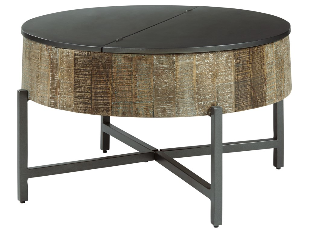 Signature Design By Ashley Nashbryn T240 8 6 Round Cocktail Table