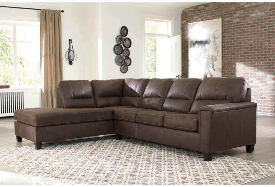 navi 2 piece sectional with left chaise