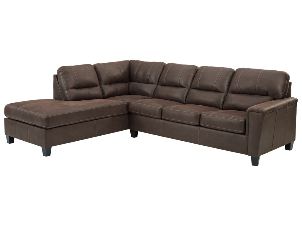 Signature Design by Ashley Navi2-Piece Sectional w/ Left Chaise & Sleeper