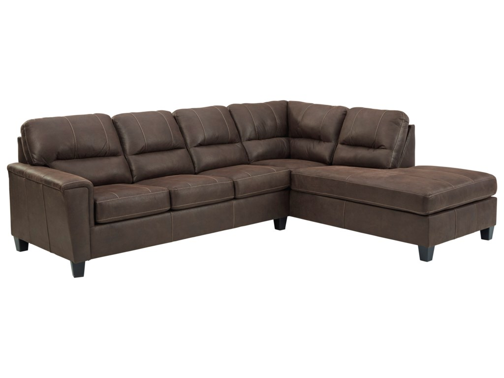 Signature Design by Ashley Navi2-Piece Sectional w/ Right Chaise & Sleeper