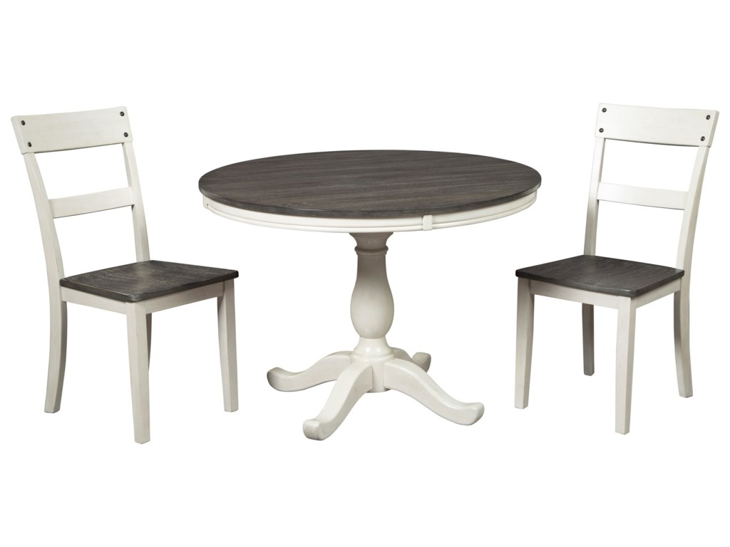 Signature Design by Ashley Nelling3-Piece Round Dining Table Set