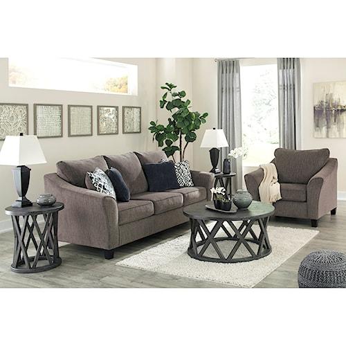 Signature Design by Ashley Nemoli Stationary Living Room Group