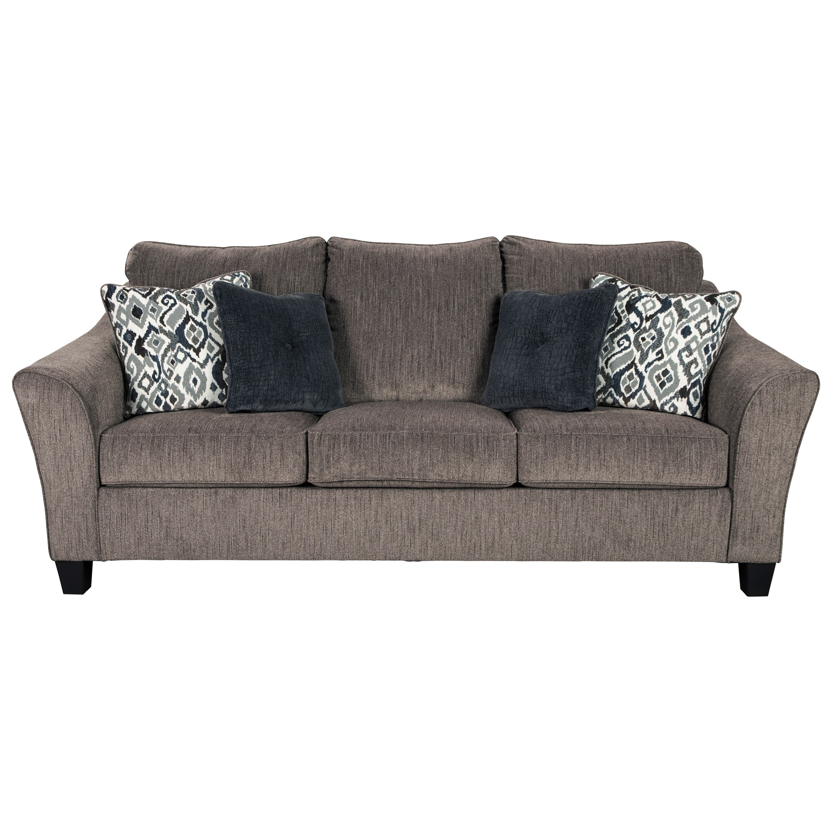 Transitional  Queen Sofa Sleeper with Flared Arm