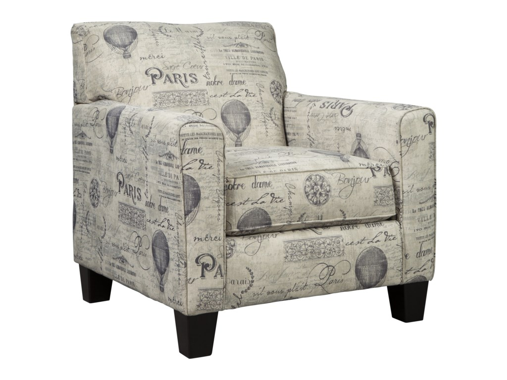 Accent Chairs Sold In Pairs.Nesso Accent Chair With Paris Script On Linen Like Fabric By Signature Design By Ashley At Value City Furniture