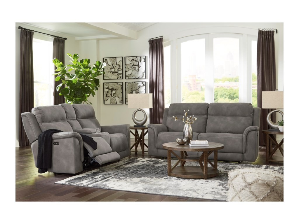 Signature Design by Ashley Next-Gen DuraPella2-Seat Pwr Rec Sofa  w/ Adj Headrests