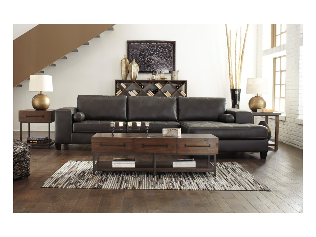 Trendz NicholasSectional with Right Chaise