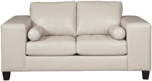 Signature Design by Ashley Nokomis Contemporary Faux Leather Loveseat