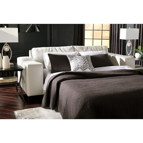 Signature Design by Ashley Nokomis Contemporary Queen Sofa Sleeper