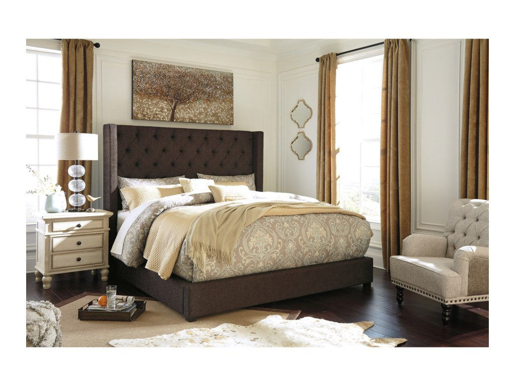 Signature Design by Ashley NorristerKing Upholstered Wing Bed
