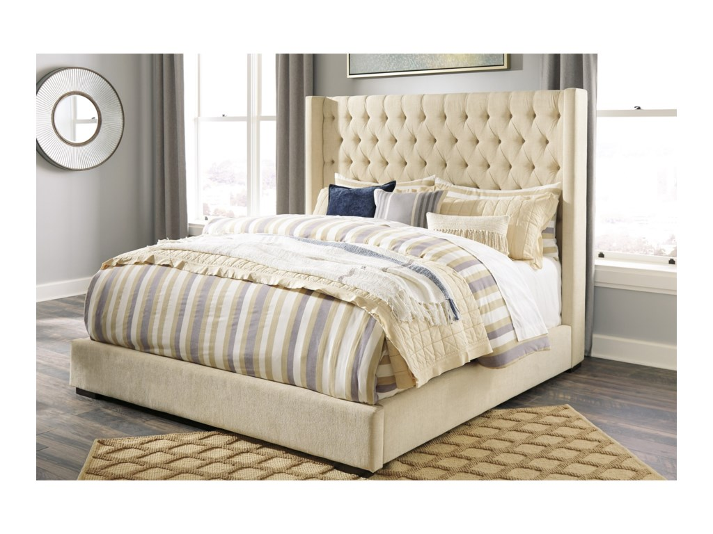 Signature Design by Ashley NorristerCalifornia King Upholstered Wing Bed