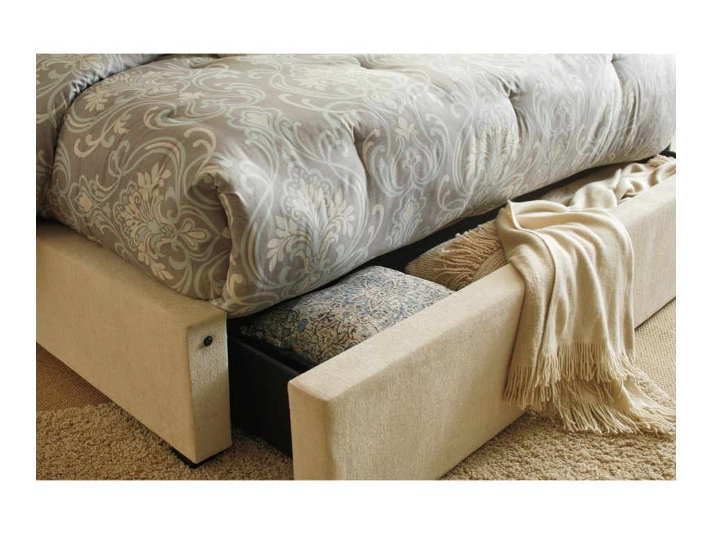 Signature Design by Ashley NorristerQueen Upholstered Wing Bed with Storage