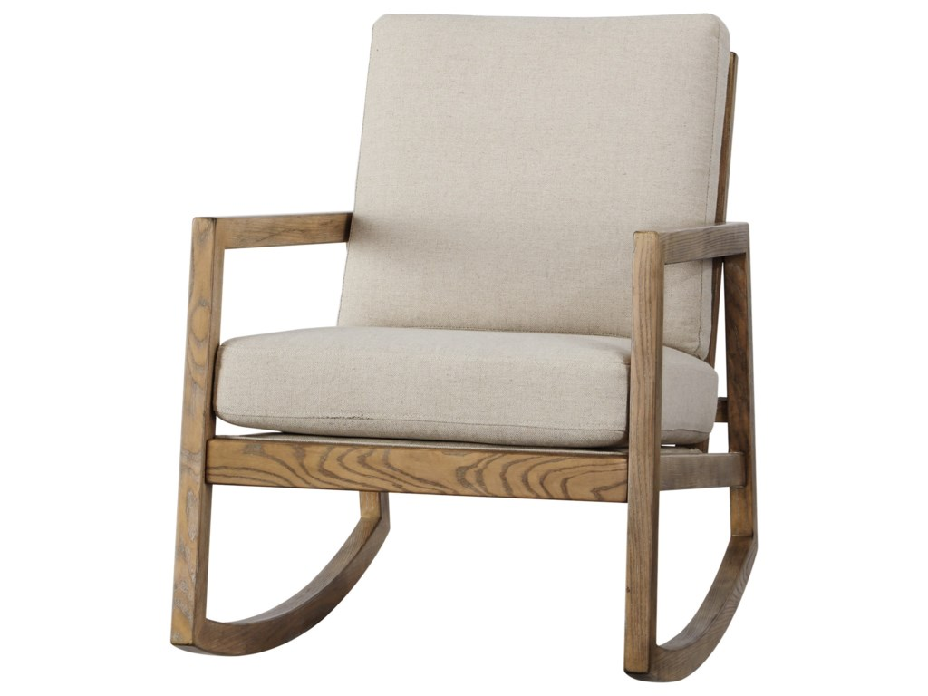 sale retailer b893c f9796 Novelda Upholstered Rocking Accent Chair with Exposed Wood Frame by  Signature Design by Ashley at Rotmans