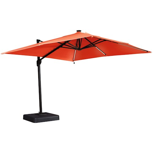 Signature Design by Ashley Oakengrove Coral Large Cantilever Umbrella