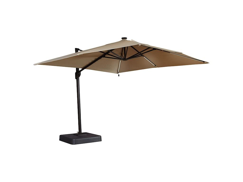 Signature Design by Ashley OakengroveLinen Large Cantilever Umbrella