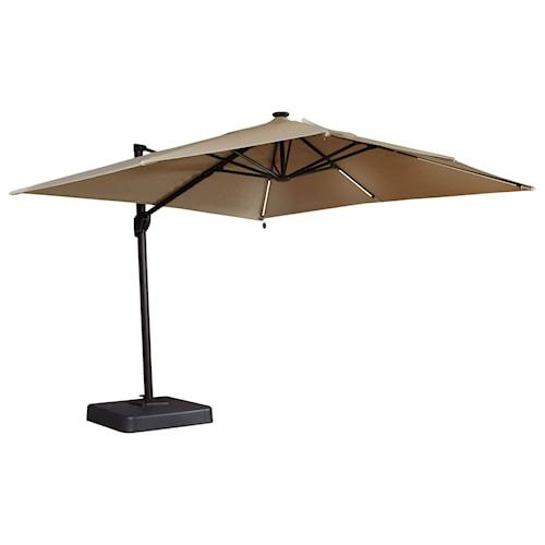 Signature design by ashley oakengrove linen large cantilever umbrella