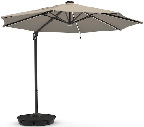 Signature Design by Ashley Oakengrove Brown Large Cantilever Umbrella