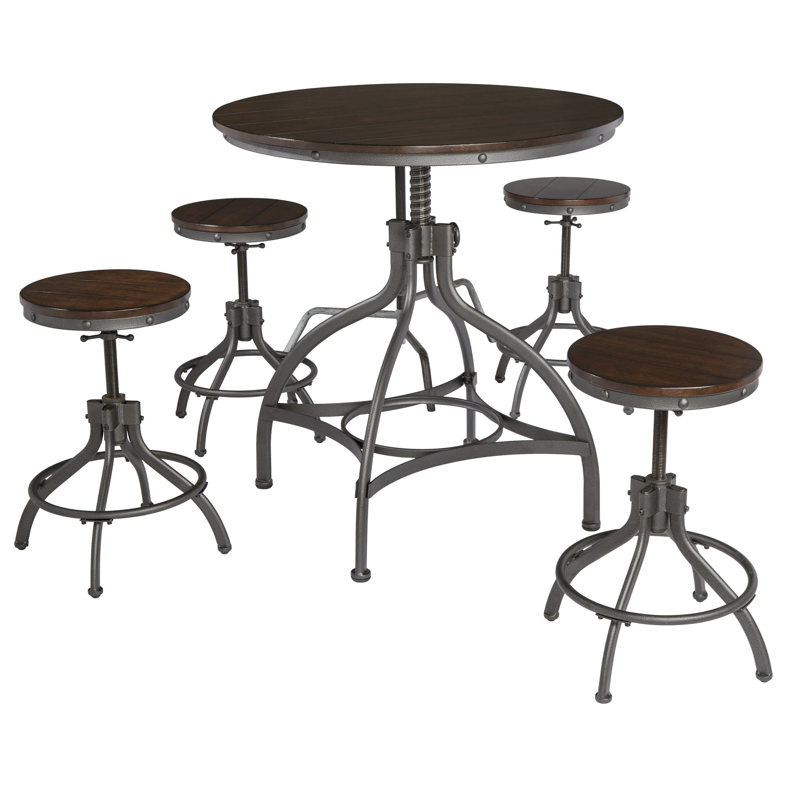 Signature Design By Ashley Odium5 Piece Dining Room Counter Table Set ...