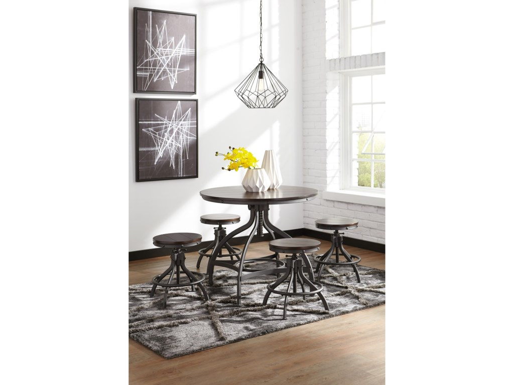 Signature Design by Ashley Odium5-Piece Dining Room Counter Table Set