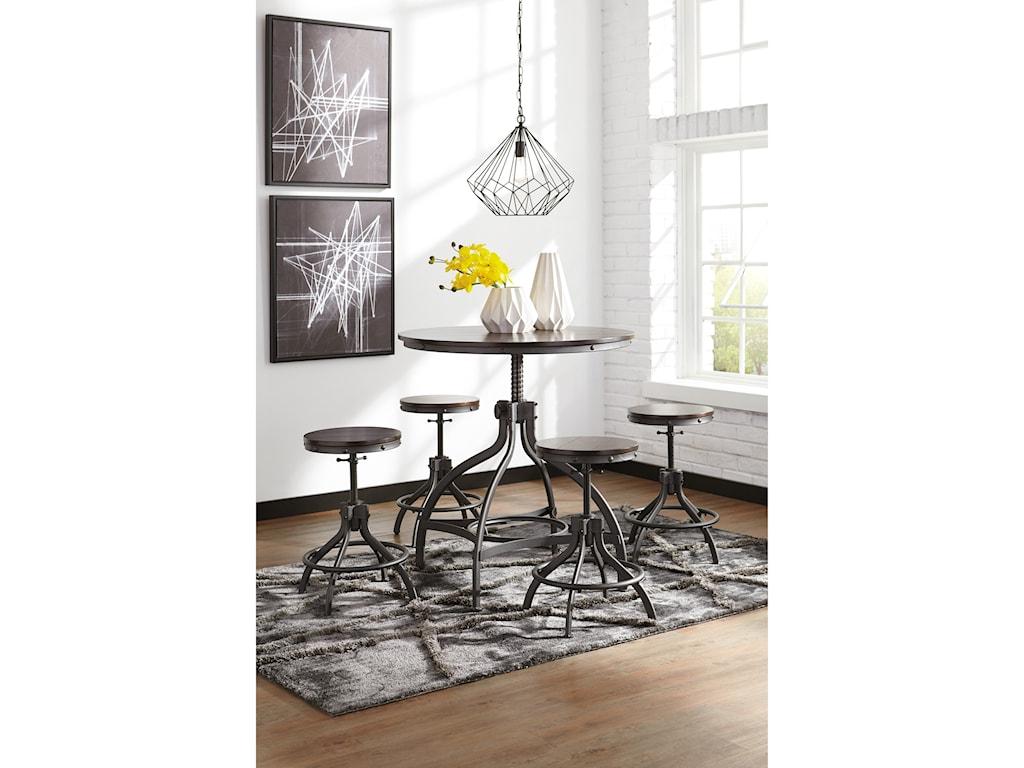 Ashley (Signature Design) Odium5-Piece Dining Room Counter Table Set
