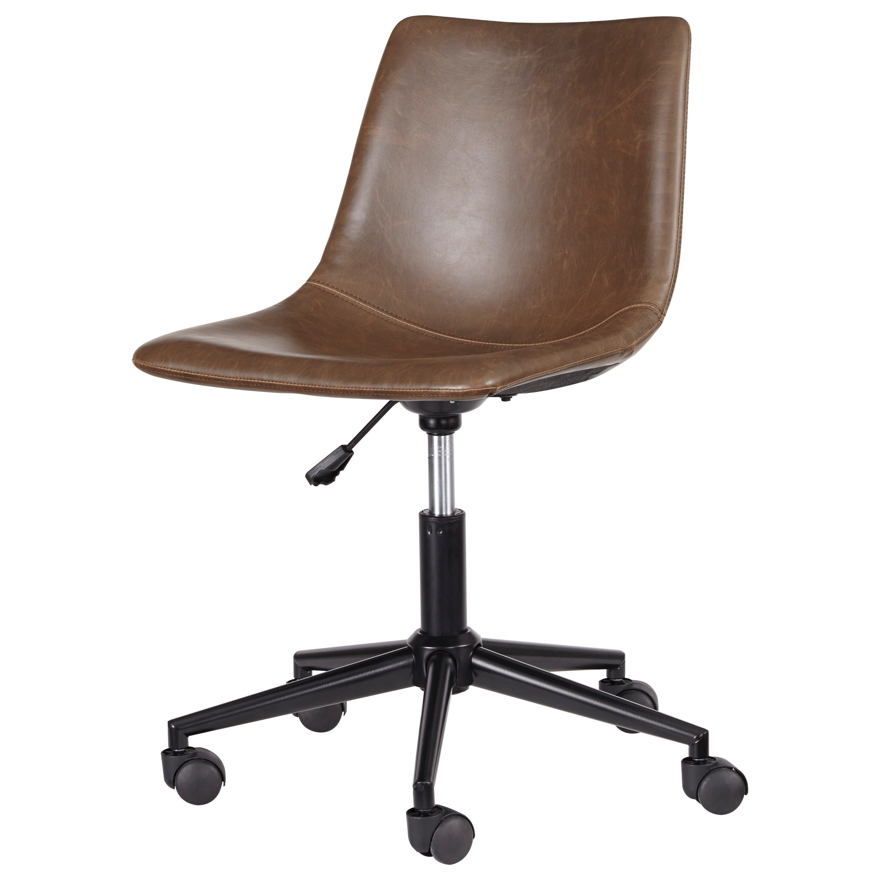 Ashley Signature Design Office Chair Program Home Office Swivel Desk Chair  In Brown Faux Leather
