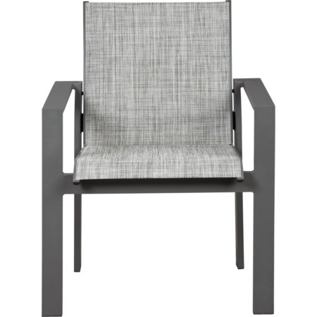 Set of 4 Sling Arm Chairs