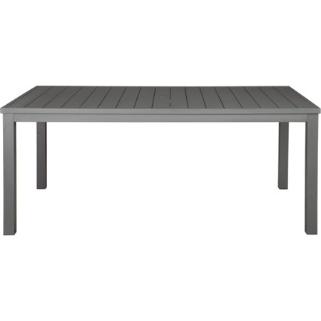 Rectangular Dining Table w/ Umbrella Option