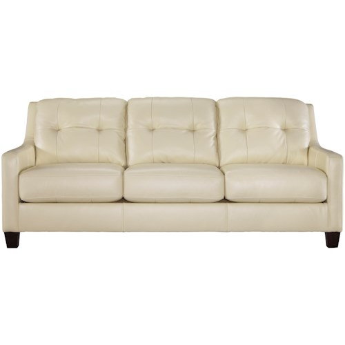 Signature Design By Ashley O Kean Contemporary Leather Match Queen Sofa Sleeper