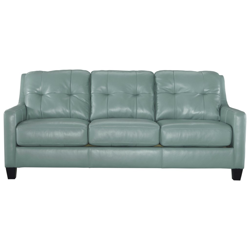 Signature Design By Ashley O Kean Contemporary Leather Match Queen  ~ Queen Sleeper Sofa Leather